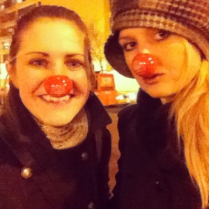 We got our very own circus noses.