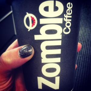 This is what you look like holding Zombie Coffee