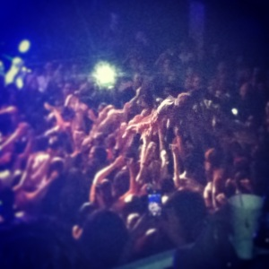 Andrew McMahon Crowd Surfing at 930 Club in DC (2013) Photo by: Jacqueline Coleman