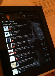 Wine on Interactive iPad