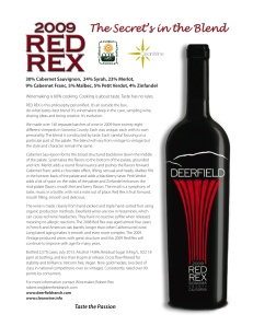 Red Rex Fact Sheet from Deerfield Ranch Winery