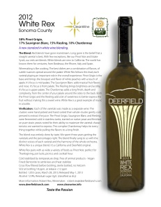 White Rex Fact Sheet from Deerfield Ranch Winery