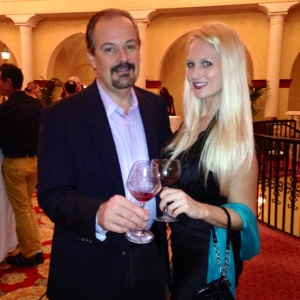 With Barry at the American Fine Wine Competition Opening Reception