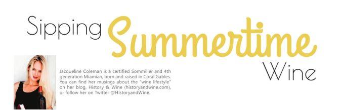 summertime wine